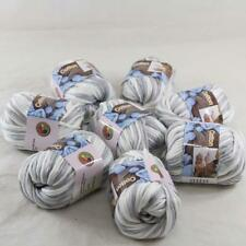 Lot of 8BallsX50g Chunky Cotton Smooth Scarf Hand Knitting Yarn Silver White 44