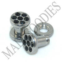 0572 Surgical Steel Screw-on/fit Black CZ Flesh Tunnels 6 Gauge 6G Ear Plugs 4mm