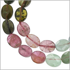 """15.5"""" Tourmaline Faceted Flat Oval ap.6x7mm 60ct #84014"""