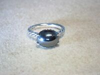 DAVID YURMAN STACK CLASSIC 12 X 10 HEMATINE STERLING SILVER CABLE RING