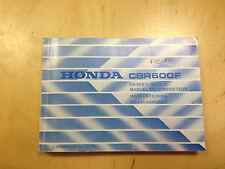 Honda CBR 600 F Bedienungsanleitung / Fahrerhandbuch (1986)