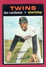 1971 TOPPS BB #405 LEO CARDENAS/TWINS EX/EX+