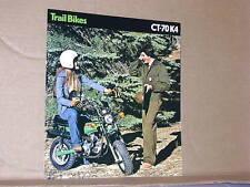 1975 Honda CT70 K4 TRAIL BIKE Motorcycle Sales Brochure - Literature