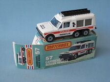 Lesney Matchbox Carmichael Commando Police Rescue Vehicle Boxed Range Rover