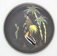 RUSCHA Keramik Wandteller KONGO 22,0 cm  50er/60er Top