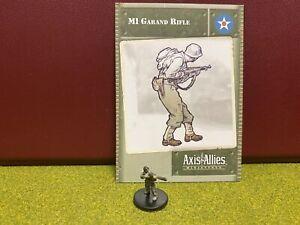 Axis & Allies Miniatures, World War II, USA, M1 Garand Rifle Soldier, 18/48