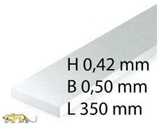 Microstreifen weiß 10 Stk. Grundpreis 1,27//m gefräst Poly 0,5 x 1,5 mm