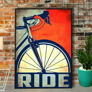 Cycling Ride Bike Vintage Poster Art Print Decor Home