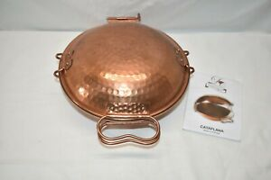 """Lusian Coppers Cataplana Hammered Copper Food Steamer 8.5"""""""