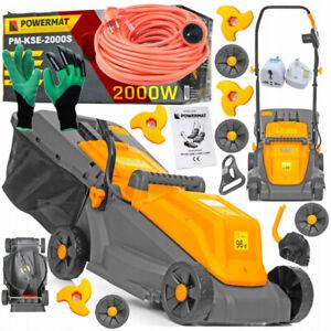 2000W Electric Rotary Lawn Mower Garden Grass Cutter 30L + Accessories