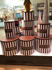 Henri Bendel Centennial Stripe Hat Box Window Display Limited Drum Style LARGE L