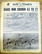 1949 hdlne newspaper LOS ANGELES RAMS win NFL football Western Conf CHAMPIONSHIP