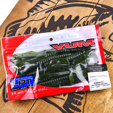 "YUM LPT Ribbontail Carolina Texas Rig Soft Worm Bait 7.5"" 12ct - WATERMELON SEED"