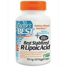 R-Lipoic Acid - 60 - 100mg Vcaps by Doctor's Best - Promotes Antioxidant Defence