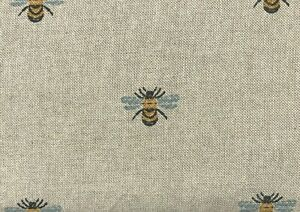 French Bumblebee Linen French Linen Cotton Upholstery Curtain Blind Fabric Bee