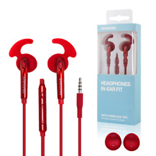 SAMSUNG IN EAR FIT Rossi Auricolari Cuffie Headphone Alette EO-EG920B Jack 3,5