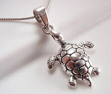 Turtle Necklace 925 Sterling Silver Corona Sun Jewelry slow deliberate wins race