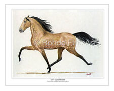 EZD'S FALCON ROWDY - famous speed RACKING HORSE ART equine painting ROHDE
