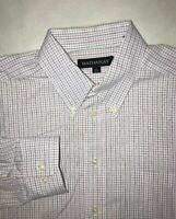 Men's Hathaway Button Down Shirt Size Large 16-16.5 34-35 Top