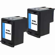 2pk 61XL CH563WN Black Rem Ink for Officejet 2620 4630 4632 4635 8040 8045