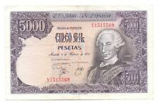 More details for 1976 spanish 5,000 pesetas banknotes 1978 issue spain pick 155