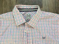 Gents Crew shirt - L - pink, blue & white - classic fit