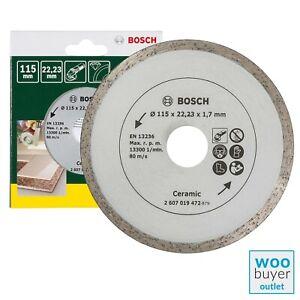 Bosch 115mm Diamond Cutting Disc / Blade - For Tiles