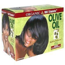 Estimulador de raíces orgánico (ors) aceite de oliva relajador de cabello sin lejía-normal