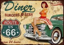 Route 66 diner Metal Wall Sign