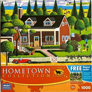 """Hometown Collection 1000 Piece Puzzle - """"Tending to the Garden"""" - Sealed Plastic"""