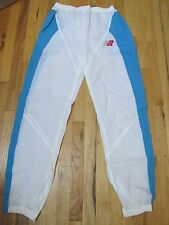New Balance VTG Sky Blue White Nylon Running Warm Up Training Pants Men's L  FR4