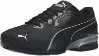 Puma Mens tazom 6 fm Low Top Lace Up Running Sneaker, Black/Silver, Size 7.5 l90