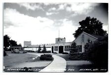 RPPC Recreation Building and Swimming Pool, Neenah, WI Postcard *6M10