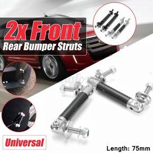 Carbon Look 75mm Car Front Bumper Lip Splitter Strut Rod Support Bars Adjustable