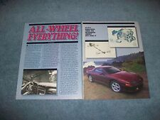 "1991 Mitsubishi 3000GT VR-4 Vintage Info Article ""All-Wheel Everything"""