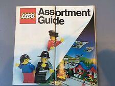 1 VINTAGE LEGO BOOKLET ASSORTMENT GUIDE RARE 1980 LEGOLAND