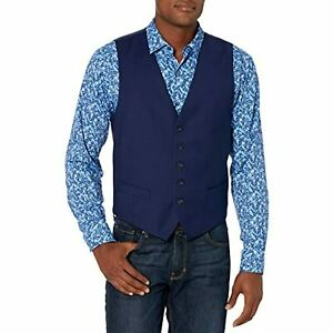Perry Ellis Men's Portfolio Slim-Fit Stretch Suit Vests, Blue, Size L, $85, NwT