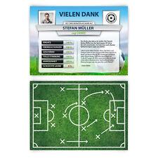 Danksagungskarten Fussball Spielerstatistik Danksagung mit Foto Tabelle Analyse
