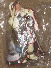 "NEW Ashton Drake Heirloom Ornaments ""Dawn of Christmas Day Santa"" Thomas Kinkade"