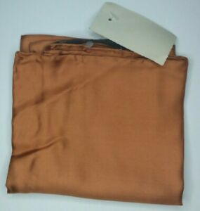 Ashear 100% Silk Copper Hand Rolled Italy Pocket Square Vintage NWT