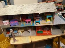 1950 Marx-A-Mansion Tin Metal Dollhouse MARX Vintage with furniture.