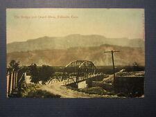 Old Vintage 1916 - PALISADE , COLORADO - POSTCARD - Bridge & Grand Mesa