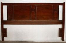 """60""""x40 Vintage Mid Century Modern Wooden Wood Full Size Bed Head Board Headboard"""