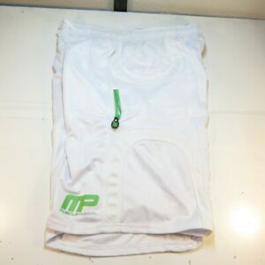 NEW NWT MUSCLE PHARM MP ATHLETIC GYM BODY BUILDING SHORTS Mens XXL White