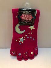 Fun Fashion Toe Socks One Size Fits All. Stretch. Moon & Stars