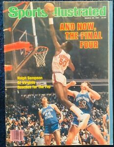 3.30.1981 RALPH SAMPSON Sports Illustrated Virginia Cavaliers - Label Removed