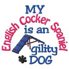 My English Cocker Spaniel is An Agility Dog Short-Sleeved Tee - Dc1890L