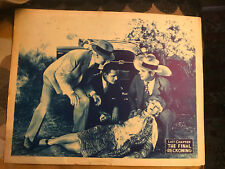 The Final Reckoning 1914, 1928 or 1932 serial lobby card Buick
