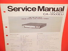1977 PANASONIC AM-FM/FM MPLX RADIO TUNER FACTORY SERVICE MANUAL MODEL CA-9500EU