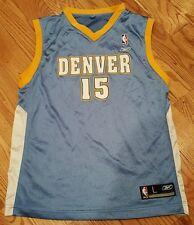 Vintage #15 Carmelo Anthony Denver Nuggets NBA Reebok Jersey Large Youth